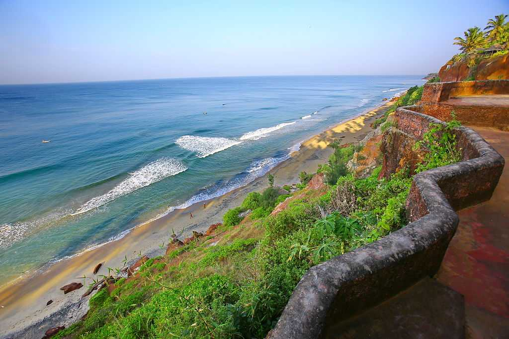 beach at Varkala, Kerala