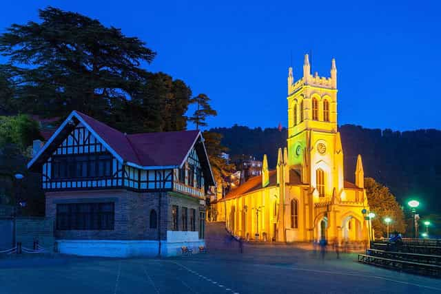 Shimla-Top 10 Hill Stations in North India